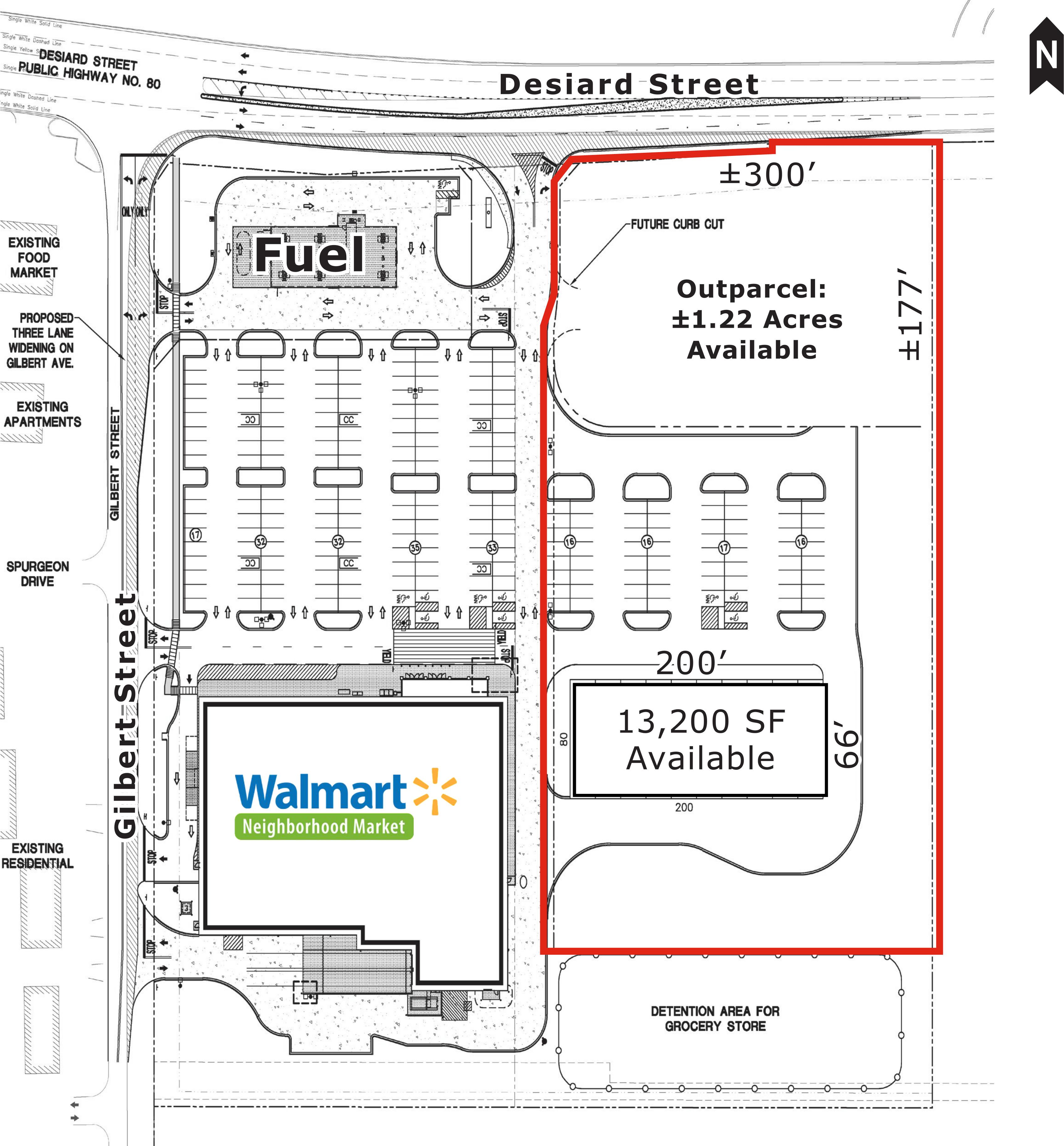 property capsule walmart neighborhood market shadow center outparcel retail development potential monroe la plans